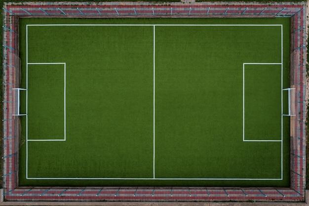 Vista superior do campo de futebol Foto gratuita