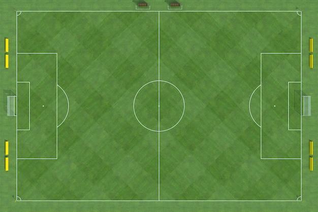 Vista superior do campo de futebol Foto Premium