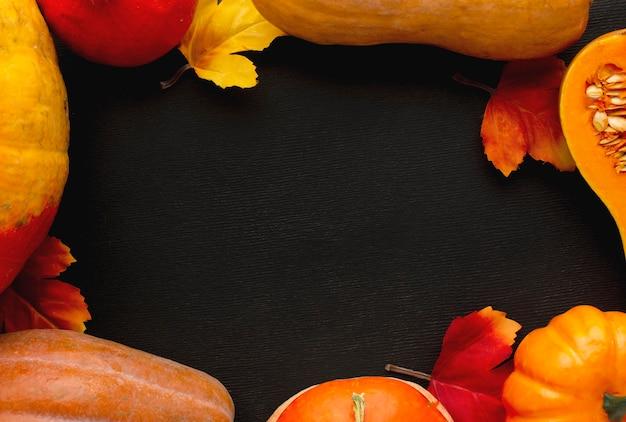 Vista superior do conceito de ação de graças com espaço de cópia Foto gratuita