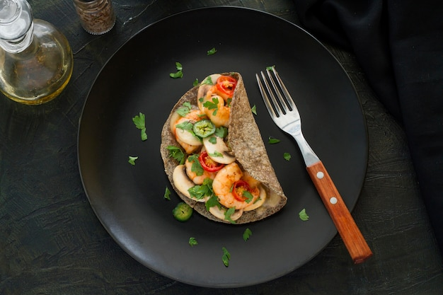 Vista superior do conceito de comida mexicana Foto gratuita