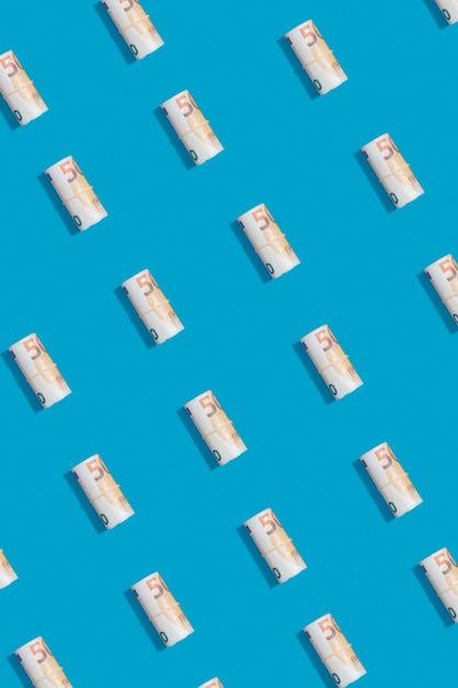 Vista superior do conceito de economia Foto gratuita
