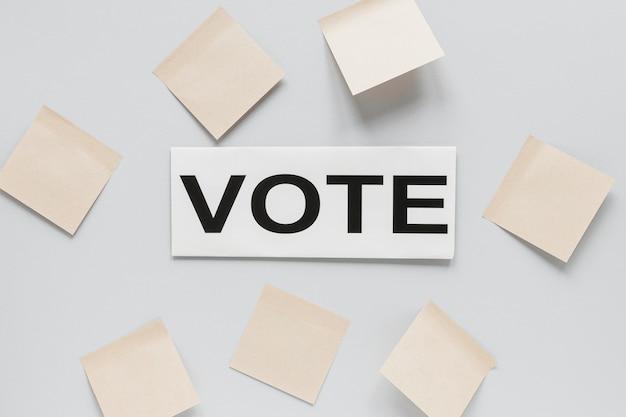 Vista superior do conceito de eleições com espaço de cópia Foto gratuita