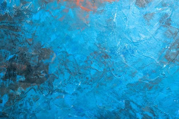 Vista superior do fundo azul com lugar livre Foto gratuita