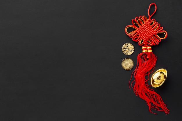 Vista superior do pingente para o ano novo chinês Foto gratuita