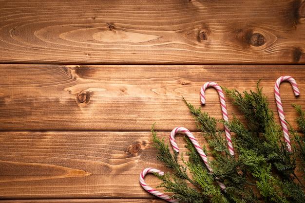 Vista superior doces de natal com espaço de cópia Foto gratuita