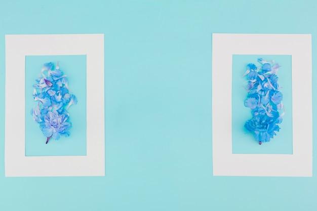 Vista superior flores com moldura Foto gratuita
