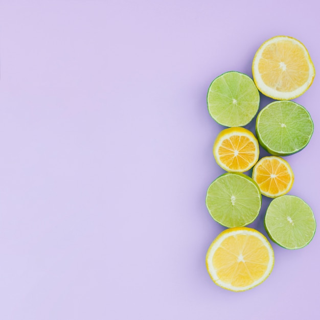 Vista superior grupo de limão Foto gratuita