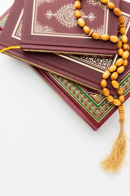 Vista superior islâmica ano novo conceito Foto gratuita
