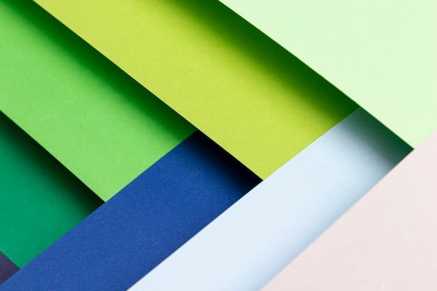 Vista superior padrão com cores frias Foto gratuita