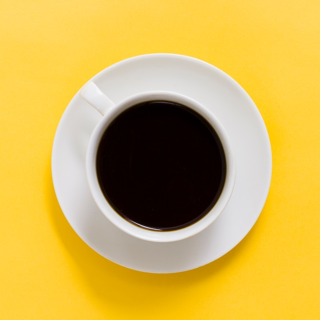 Vista superior, xícara café Foto gratuita