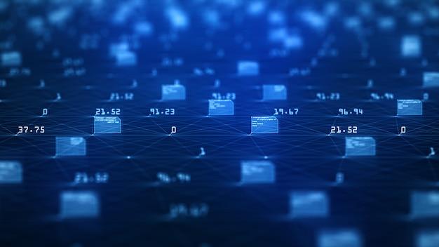 Visualização de big data Foto Premium