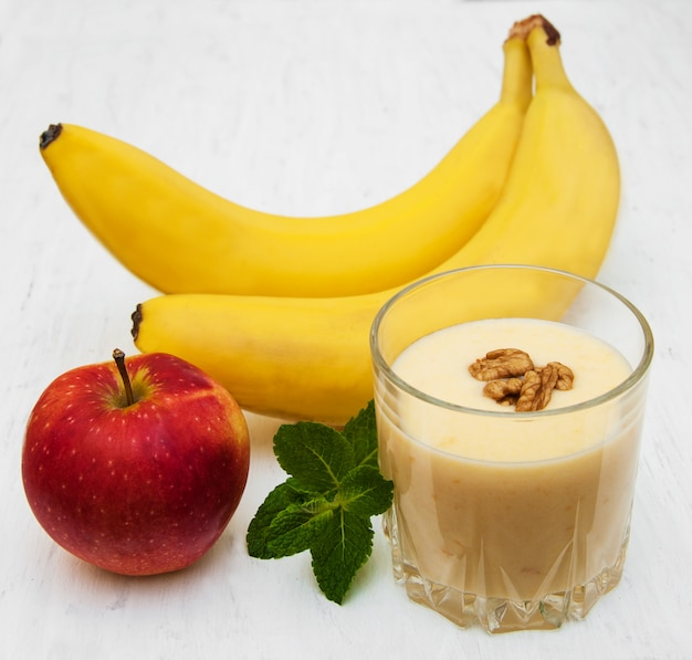 Vitamina de banana Foto Premium