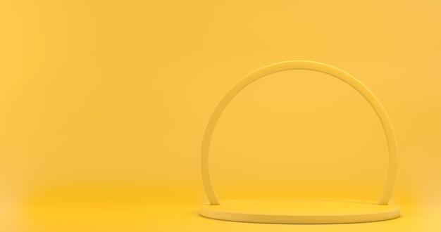 Vitrine minimalista com espaço vazio. pódio vazio para exibir o produto. renderização 3d. Foto Premium