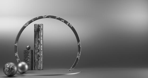 Vitrine minimalista com espaço vazio. Foto Premium