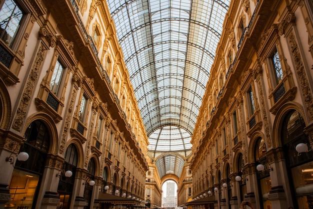 Vittorio emanuele gallery, milão Foto Premium