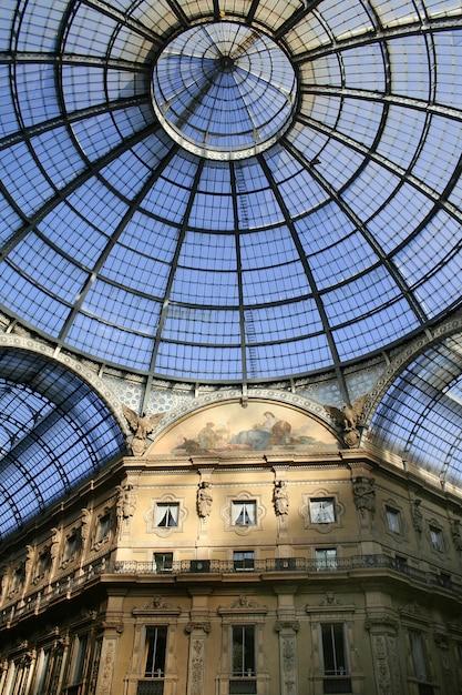 Vittorio emanuele ii milano gallery Foto Premium