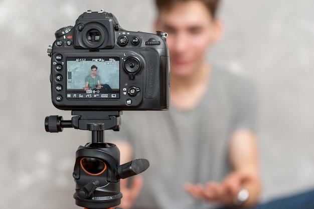Vlogger Foto Premium
