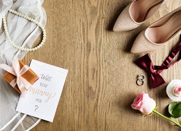 Você vai casar comigo propondo casamento cartão Foto Premium