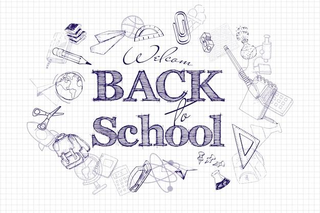 Volta ao cartaz da escola Foto Premium
