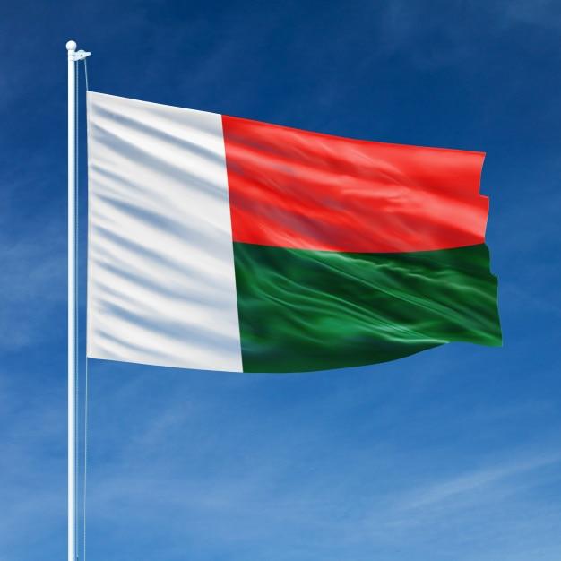 Vôo da bandeira de madagascar Foto Premium
