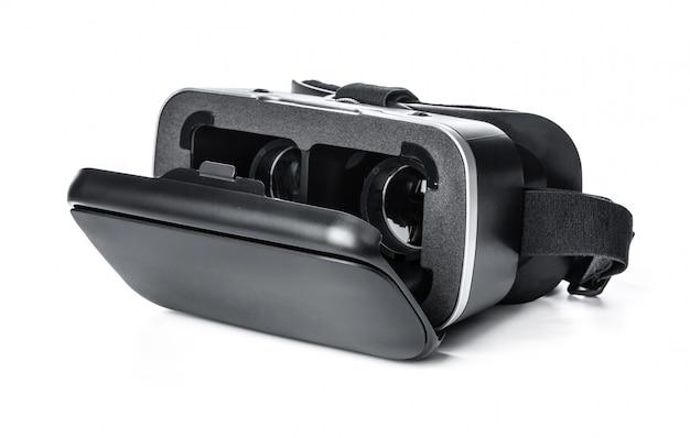 Vr, óculos de realidade virtual em branco Foto Premium