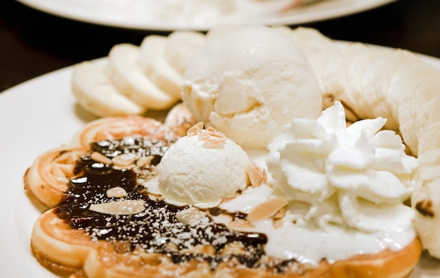 Waffle doce Foto Premium