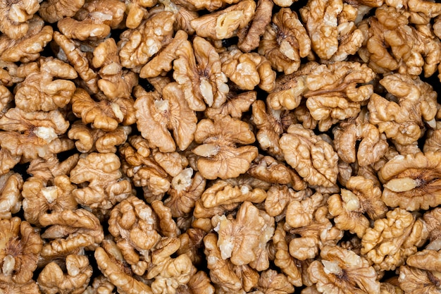 Walnut kernels vista superior Foto Premium