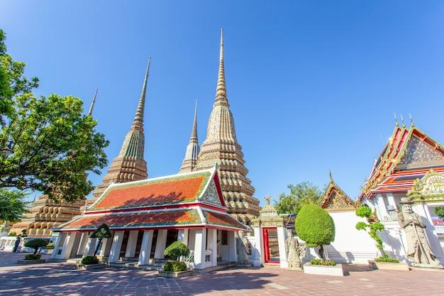 Wat pho é um templo budista em bangkok Foto Premium