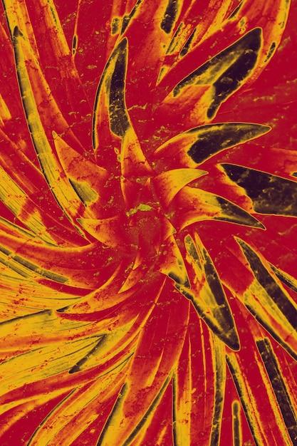 Whirlpool alucinógeno louco. abstração, uma flor de cor vermelha Foto Premium