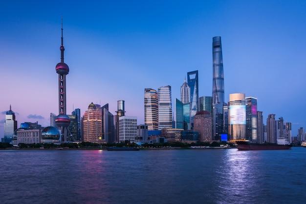 Xangai à noite, china Foto Premium
