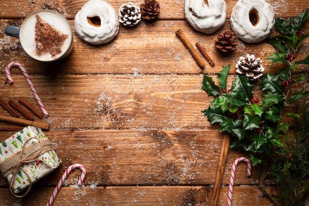 Xícara de café vista superior com espaço de cópia Foto gratuita
