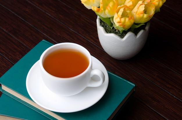Xícara de chá no conceito de catering Foto Premium