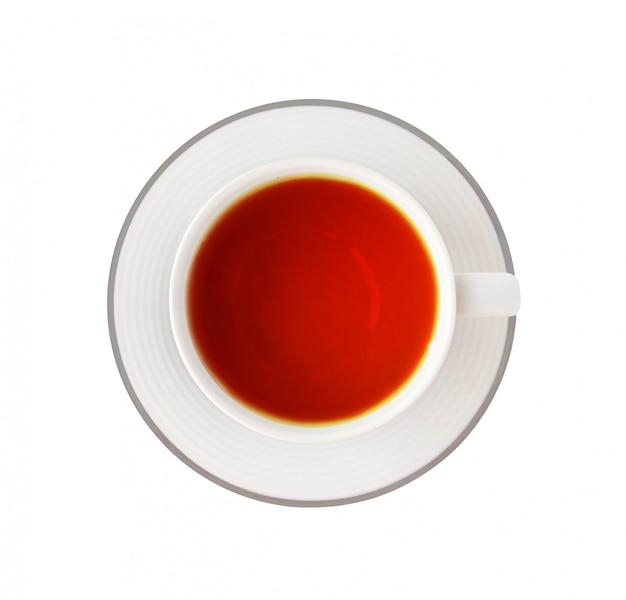 Xícara de chá preto no branco Foto Premium
