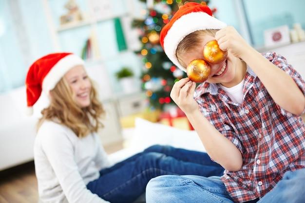 Xmas feriado filho fundo alegre Foto Premium