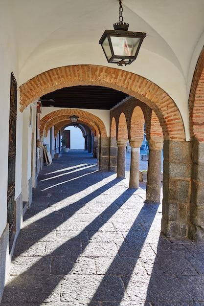 Zafra plaza grande em espanha extremadura Foto Premium
