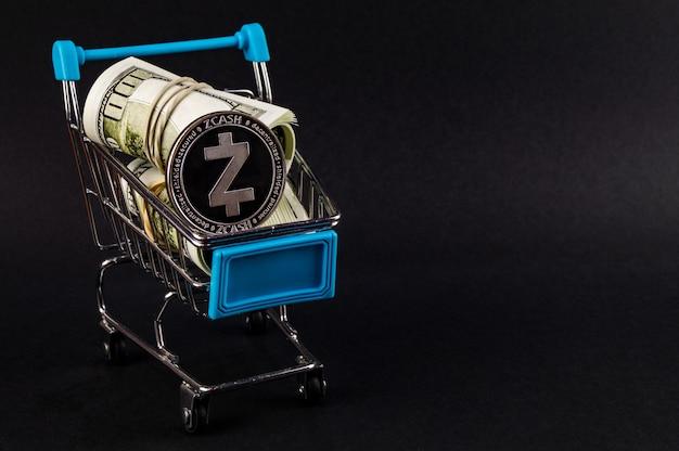 Zcash é uma forma moderna de mercado de troca e web Foto Premium