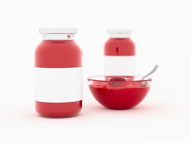 Zombar de geléia em frasco de vidro Foto Premium