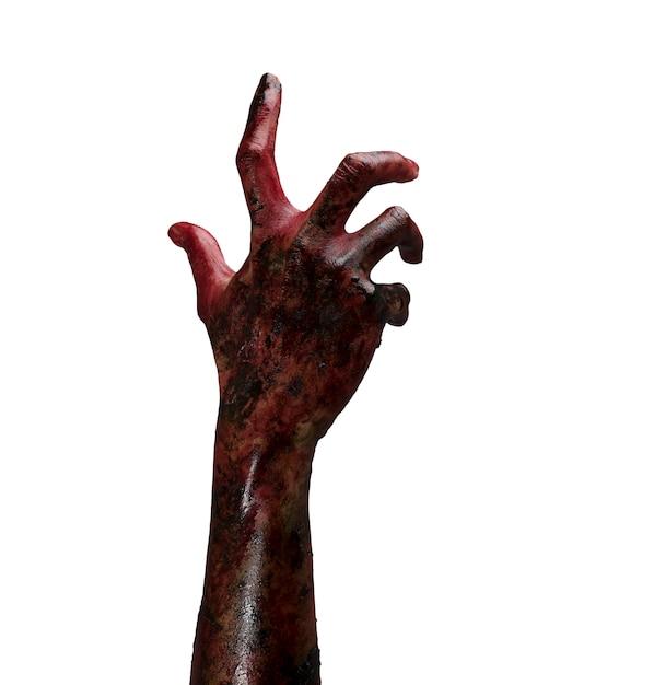 Zombie hand. conceito do tema do dia das bruxas. Foto gratuita