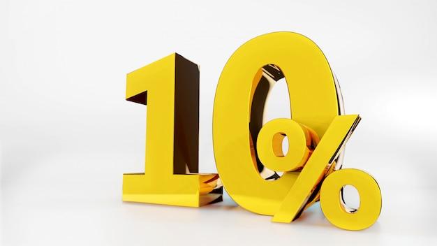 10% goldenes symbol Premium Fotos