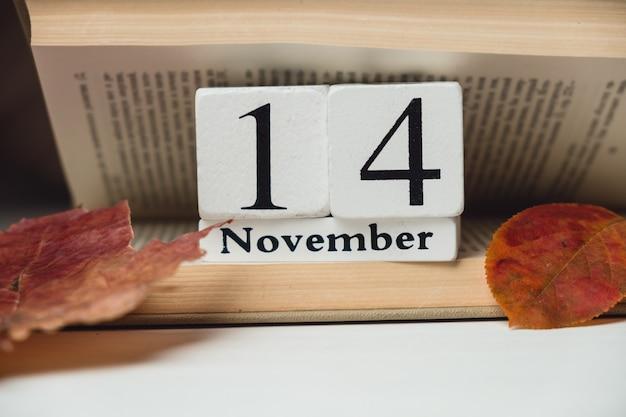 14. tag des herbstmonatskalenders november Premium Fotos