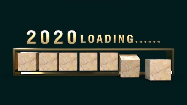 2020, das wiedergabe 3d für feiertagsinhalt lädt. Premium Fotos