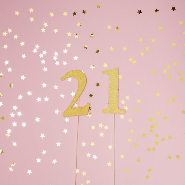 21. geburtstag mit rosa hintergrund Kostenlose Fotos