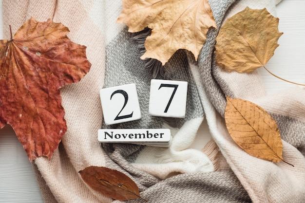 27. tag des herbstmonatskalenders november. Premium Fotos