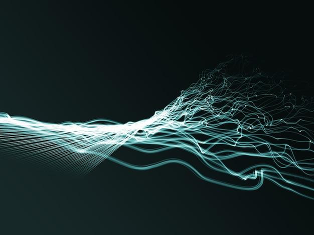 3d abstrakte fließende verdrillte stränge Kostenlose Fotos