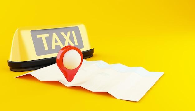 3d-anwendung für taxi online. Premium Fotos