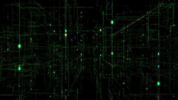 3d digital technology netzwerkdaten. Premium Fotos