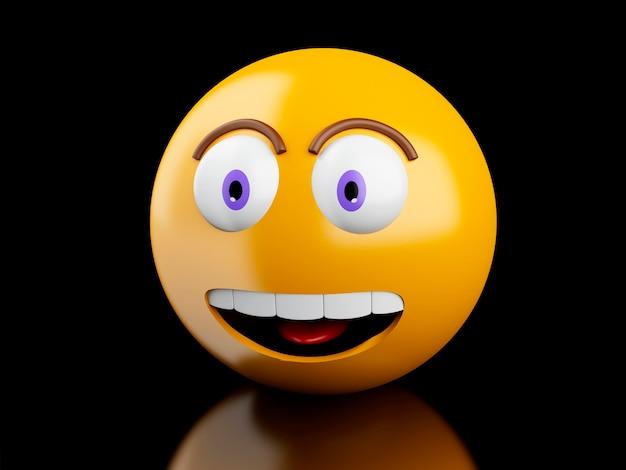 3d emoji-ikonen mit gesichtsausdrücken. Premium Fotos