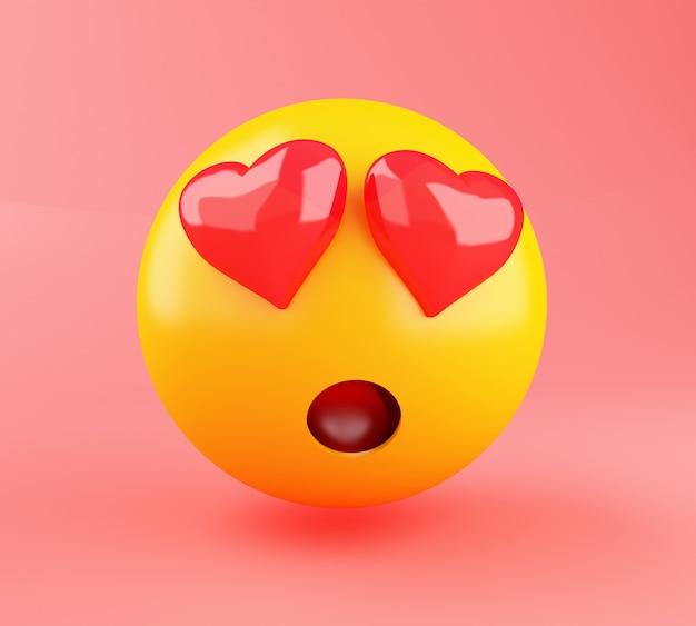 3d emoji in der liebe. Premium Fotos