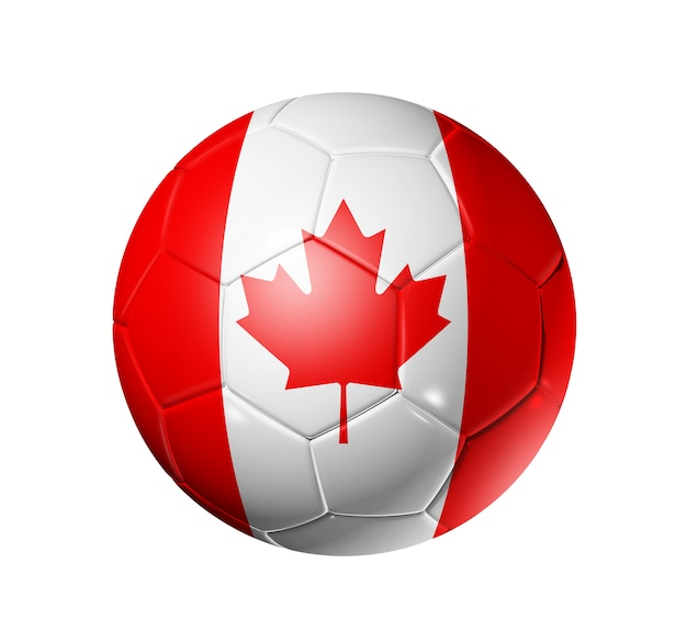 3d fußball mit kanada team flagge. Premium Fotos