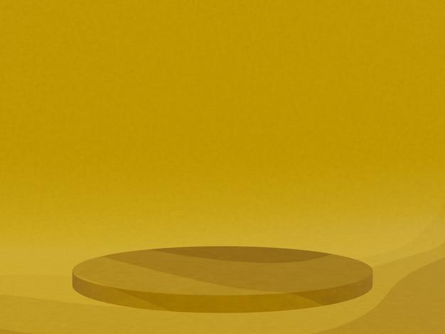 3d gerenderte abstrakte gelbe grafische kontur podium Premium Fotos